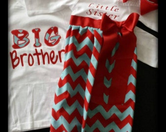 Big Brother Little Sister Matching Set - Great set for leaving the hospital