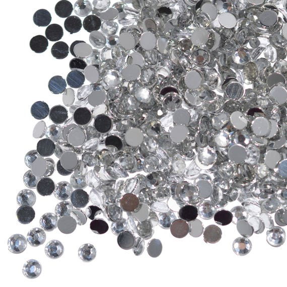 Mixed Colour 4mm 100 x Glass Hotfix Faceted Rhinestones