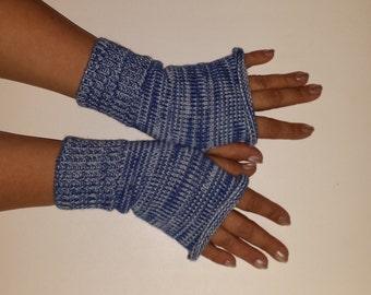 Knit Fingerles Gloves, Fingerless GLOVES, Fall Gloves, Knitted Women Gloves, Multicolored Gloves, Multistriped Fall Gloves, SOFT & KNIT