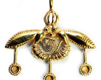 Bee pendant etsy minoan bee pendant sacred temple reproduction gold bees in ancient crete greece sterling or bronze aloadofball Choice Image