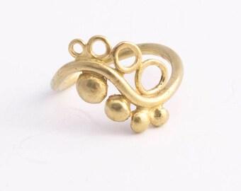 Symbolic Ring, 14k gold rings for women, ring 14k gold unique rings gold, Boho rings Gold Ying Yang ring, spiritual ring for women