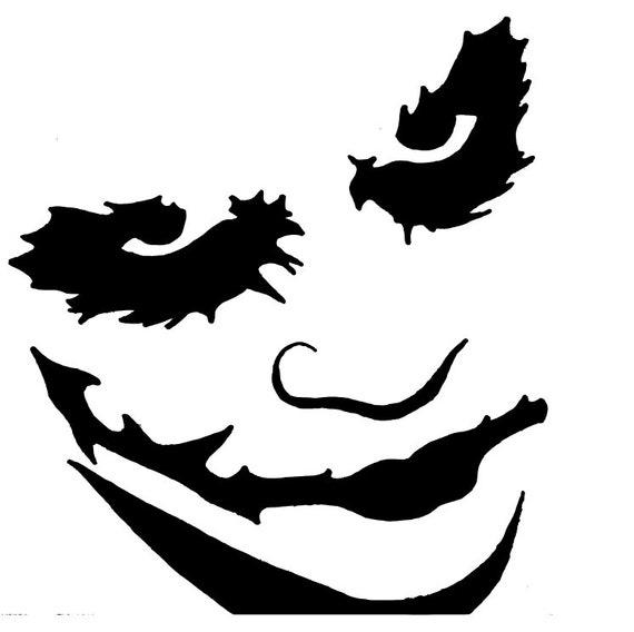 Joker Face Svg Heath Ledger Joker Svg Etsy