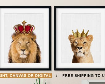 Lion And Lioness Etsy