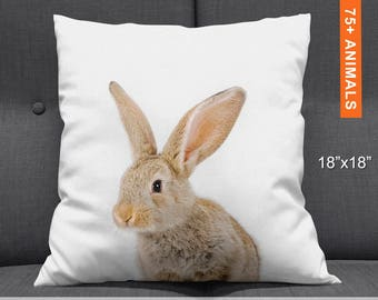 Cute Kids Bunny Pillowcase Personalised