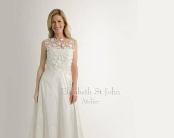 CAPRI | 3D lace bridal top - sleeveless | bridal cover up | lace top | separates