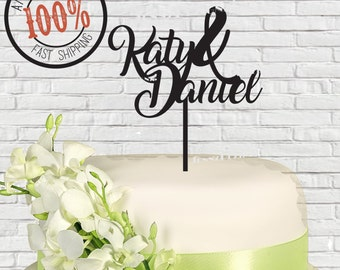 First Names Wedding Cake Topper