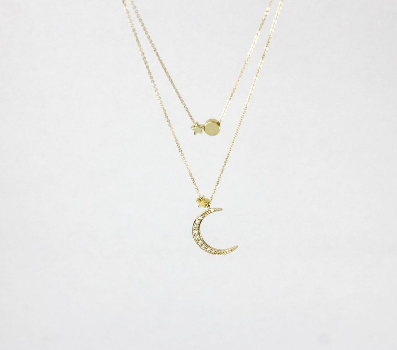04e88f63867d5 Sun Moon Star Jewelry.2 stars sun moon JewelryLayered