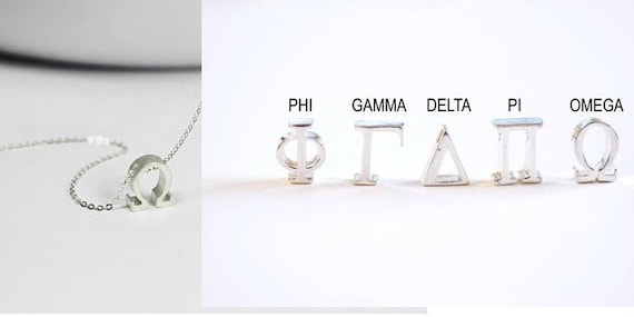Plata Esterlina 925 Phi alfabeto griego encanto