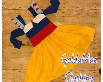 Snow White Princess Disney Inspired Peekaboo Dress