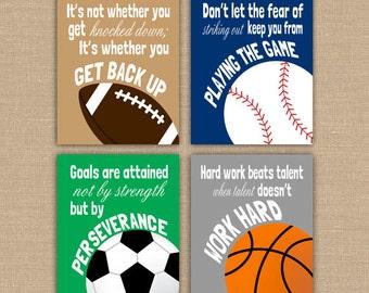 photo regarding Printable Locker Signs named Motivating Football Estimate PRINTABLE Indicators. Athletics Decor