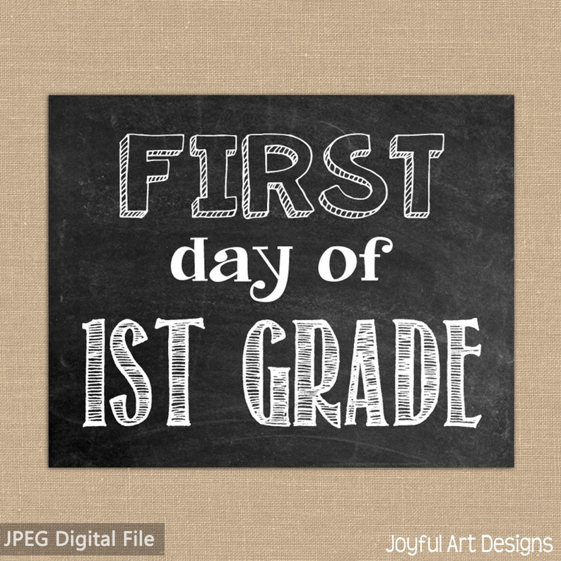 photo about First Day of 1st Grade Printable Sign identify To start with Working day of 1st Quality Chalkboard PRINTABLE Indication. Closing Working day of 1st Quality. Chalkboard indication. To start with and Remaining working day of university. 2 8x10 data files