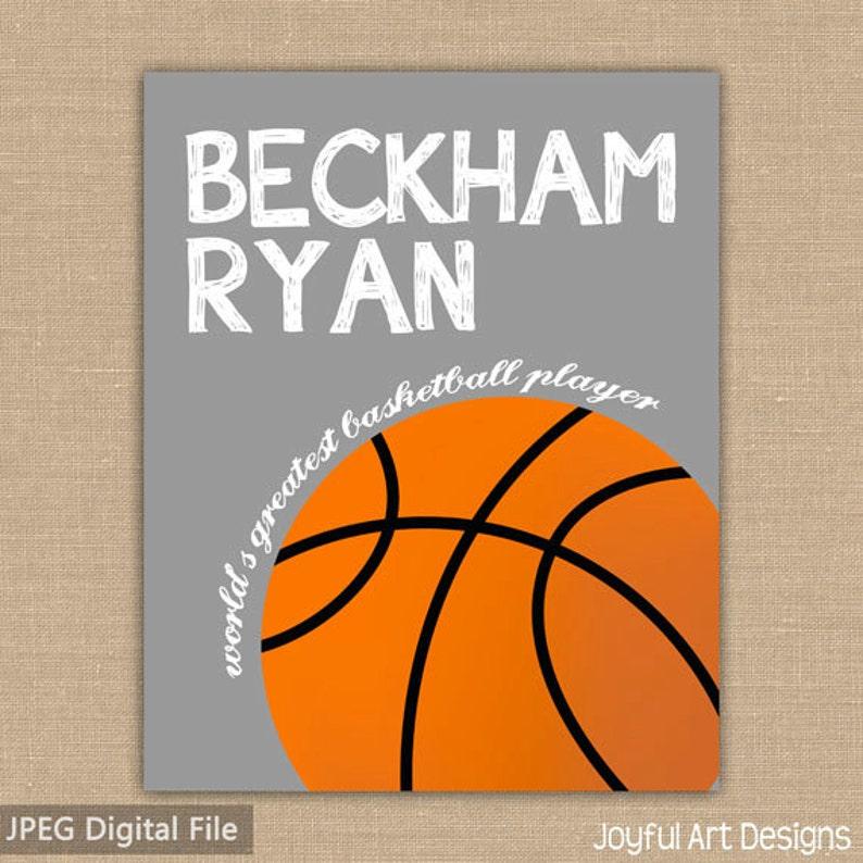 b0eae3d956f73 Basketball sign. Custom Name PRINTABLE Sign. Sports Decor. Basketball Sign.  Children's Wall Art. Boy Bedroom Decor. DIGITAL file.