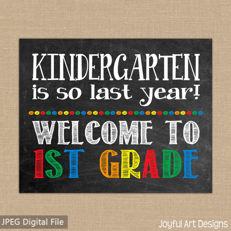 Primer día de escuela pizarra cartel para imprimir.   Etsy
