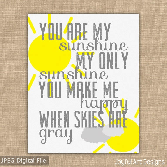 photograph relating to You Are My Sunshine Printable identify On your own Are My Solar PRINTABLE Wall Artwork. Subway Artwork. Grey and Yellow Nursery Decor. Boy or girl Shower Present. 8x10 Prompt Down load Electronic document