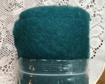 Peacock Green Felting Wool, Needle Felting Supplies, Wool Batting, Wool Fiber, Carded Wool Blend, Coopworth, Corriedale, Felting Tools
