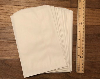 350+ 5x7 White Paper Bags, Paper Sacks, Packaging Gift Wrapping Party Favor Bags, Kraft Bags