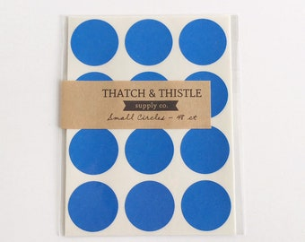 528 Blue Circle Stickers - 1 Inch Envelope Seals Labels Gift Wrapping Party Invitations Embellishment Pretty Packaging