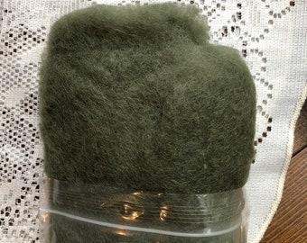 Moss Green Felting Wool, Needle Felting Supplies, Wool Batting, Wool Fiber, Carded Wool Blend, Coopworth, Corriedale, Felting Tools