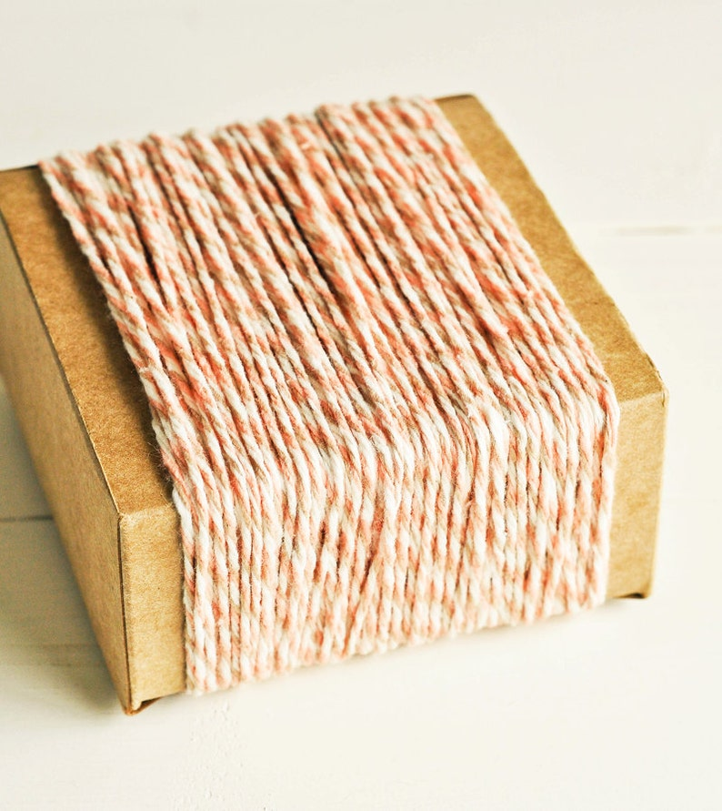 BULK SALE 90 Yards Thick Cotton Twine in Natural Twist  image 0