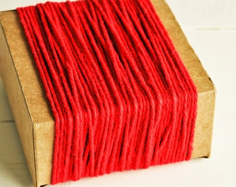 SALE Thick Cotton Twine in Red - 10 Yards - Christmas Valentines Packaging Gift Wrapping String Cord Trim Ribbon Pretty Vintage Party Decor