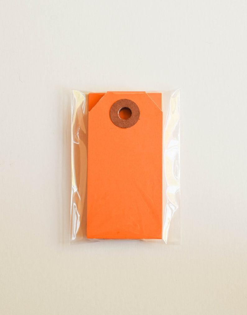 SALE 20 Mini Parcel Tags in Orange  2.75 Inch Gift Kraft image 0