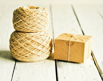 Vintage Cream Twine - 10 Yards - Antique Old Cotton String White Cord Ribbon Gift Wrapping Packaging Embellishment Pretty Party Decor