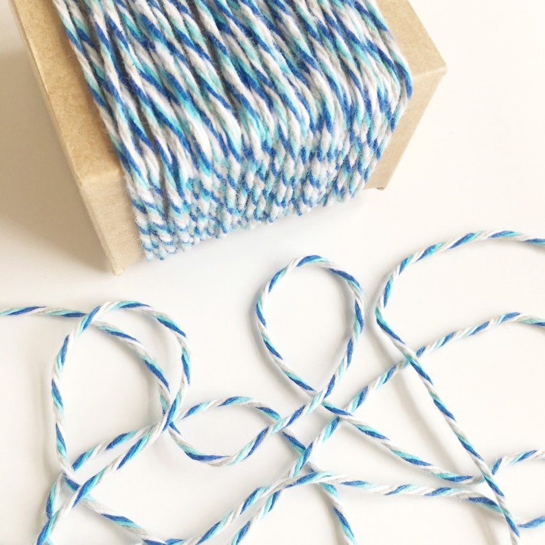 BULK SALE 180 Yards Thick Cotton Twine in Blue Turquoise image 0