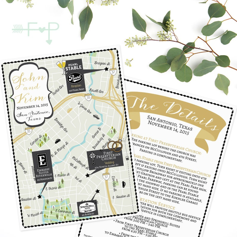 San Antonio Map Of Texas.Custom Wedding Map San Antonio Texas Map Texas Map San Antonio Map Custom Map Design Custom Illustrated Map Itinerary Out Of Town Bag