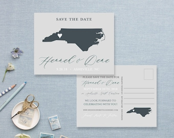 Save The Date State Themed Post Cards, Custom Save The Dates, State Pride Save The Date Cards or Magnets,Custom State Love Wedding Post Card