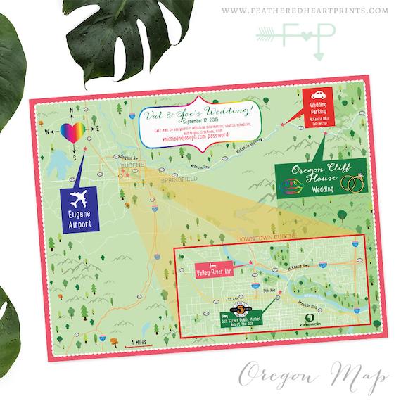 Custom Wedding Map, Eugene Oregon Map, Custom Destination Wedding Map, on phoenix arizona map, dalles oregon map, oregon coast map, corvallis oregon map, washington map, university of oregon map, grants pass oregon map, astoria oregon map, cottage grove oregon map, beaverton oregon map, salem oregon map, oregon state map, scio oregon map, medford oregon map, central oregon map, florence oregon map, coos bay oregon map, blue river oregon map, albany oregon map, lane county oregon map,