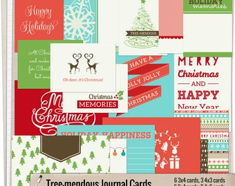 Tree-mendous - Printable journaling cards for Project Life and digital scrapbooking by Mira Designs