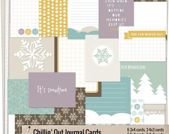 Chillin' Out - Printable journaling cards for Project Life and digital scrapbooking by Mira Designs