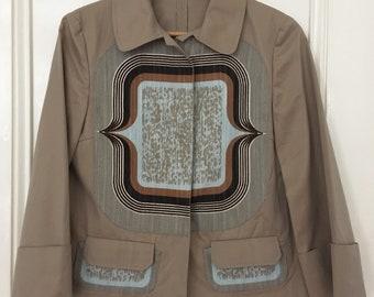 3ae201b93b82 MIU MIU by Prada Lightweight Cotton / Linen Jacket Size 40
