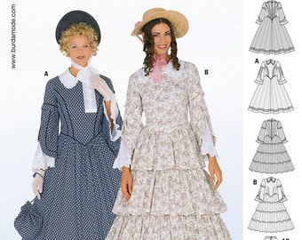 Victorian Sewing Patterns- Dress, Blouse, Hat, Coat, Mens 1948 Burda Style Pattern 2768 History 1848 $6.30 AT vintagedancer.com