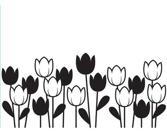 Darice® Embossing Folder - Spring Tulips - 4.25 x 5.75, scrapbooking, card making, greeting cards, invitations and more