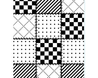 Darice® Embossing Folder  - Quilt Blocks- 4.25 x 5.75 in, scrapbooking, card making, greeting cards, invitations and more