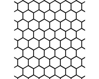 Discontinued Darice® Embossing Folder - Honeycomb - 5 x 7, scrapbooking, card making, greeting cards, invitations and more