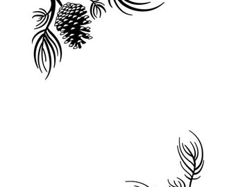 Darice® Embossing Folder - Pine Branches - 4.25 x 5.75, scrapbooking, card making, greeting cards, invitations and more