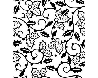 Discontinued Darice® Embossing Folder  - Holly Vines - 4.25 x 5.75 in, scrapbooking, card making, greeting cards, invitations and more
