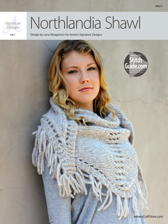 1a5dc98591a53 Northlandia Shawl Annie s Knitting Knitted Shawl