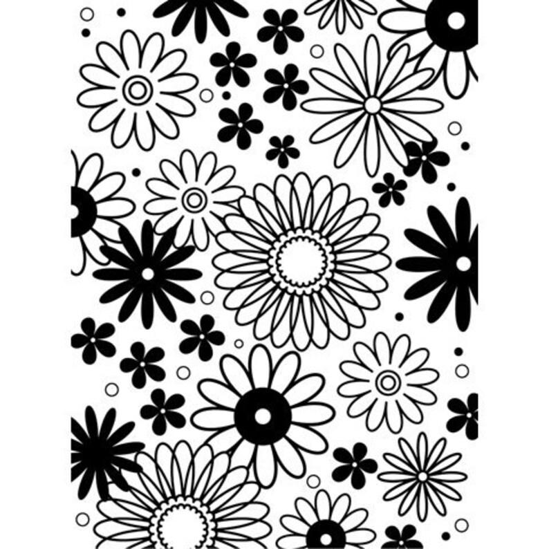 4.25 by 5.75-Inch Poppy Field Darice Embossing Folder