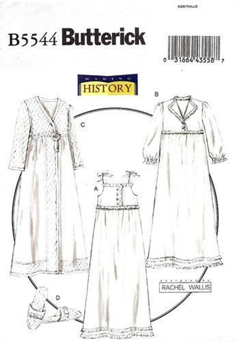 Butterick Sewing Pattern  Girls/' Civil War Costume Dress Drawers Underskirt OOP