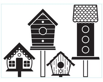 Darice® Embossing Folder - Birdhouses on Posts - 4.25 x 5.75 inches, scrapbooking, card making, greeting cards and more