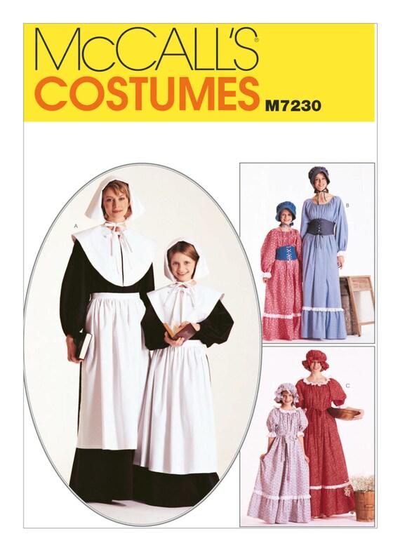 7230 Mccalls Women S Pilgrim Colonial Puritan Etsy