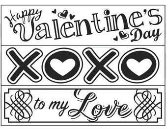 Discontinued - Darice® Embossing Folder Borders - Valentine's Day 3 pack - 1.5 x 5.75 in - scrapbooking, card making, greeting, invitations
