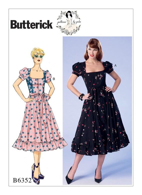 40 Butterick Retro Day Dress Vintage Style 40's Etsy Impressive 50s Style Dress Patterns