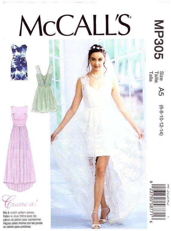 MP305 oder MP501 oder 7507 McCalls Prom Kleid Brautjungfer | Etsy