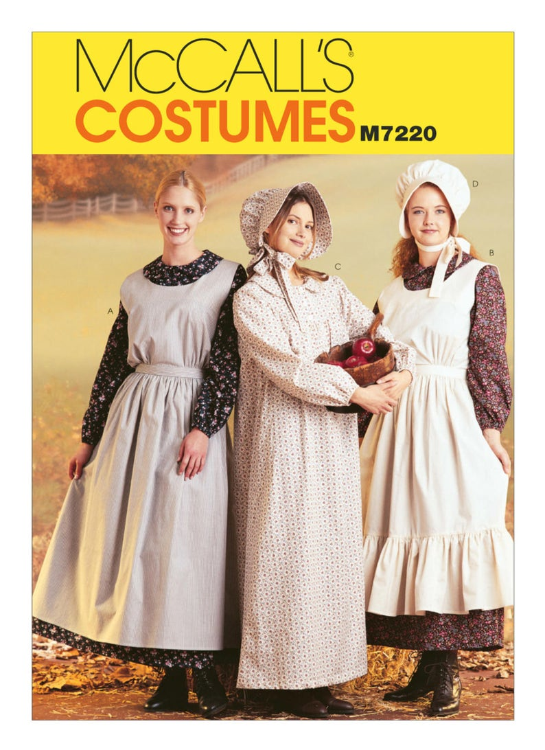 7220 Mccalls Women S Pilgrim Colonial Puritan Etsy