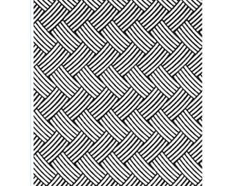 Discontinued Darice® Embossing Folder - Basket weave - 5 x 7 - scrapbooking, card making, greeting, invitations