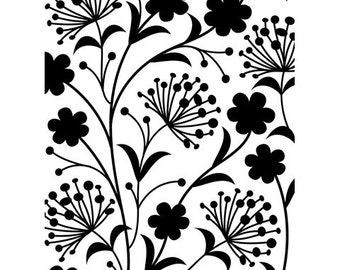 Discontinued - Darice® Embossing Folder  - Dandelion  - 4.25 x 5.75 in, scrapbooking, card making, invitations, greeting cards and more